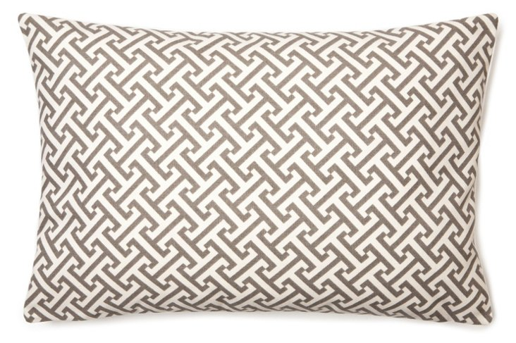 Geo Hayride 12x18 Pillow, Gray
