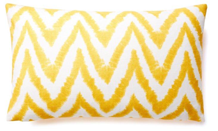 Chevron 12x20 Cotton Pillow, Yellow