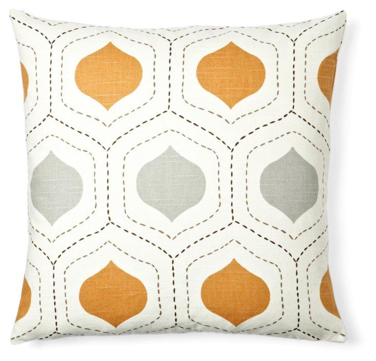 Seedling 20x20 Cotton Pillow, Orange