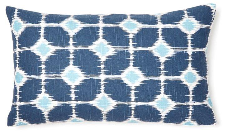 Lara 12x20 Cotton Pillow, Blue