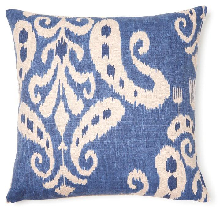 Trisha 20x20 Cotton Pillow, Blue