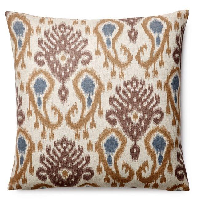 Barb 20x20 Linen-Blended Pillow, Neutral