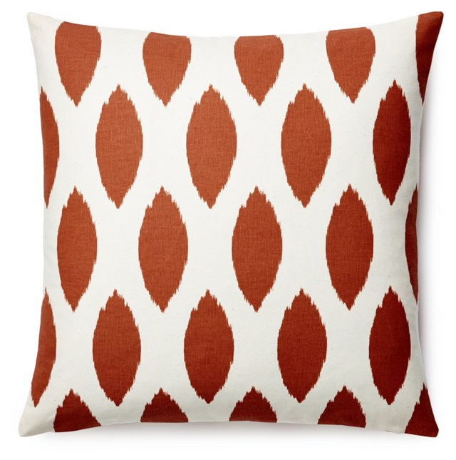 Arizona 20x20 Cotton Pillow, Rust