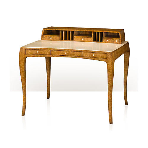 "Curve 43"" Writing Desk, Light Brown"