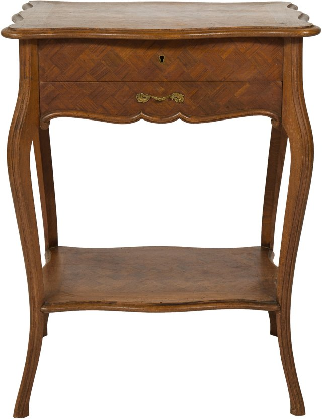 19th-C. Sewing Table