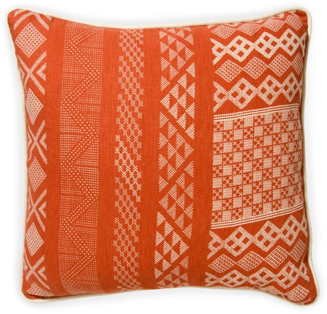 2-Sided Tangier Pillow, Flame