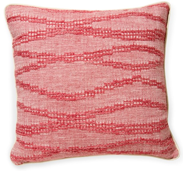 2-Sided Moroccan Weave Pillow, Red