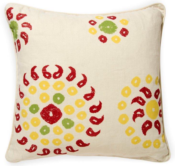 2-Sided Marrakech Pillow, Cherry Red