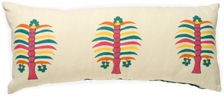 2-Sided Fez Palm Pillow, Peony I