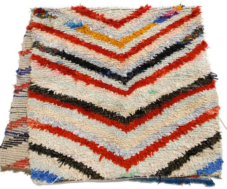 "Vintage Multicolored Rug, 2'9"" x 6'3"""