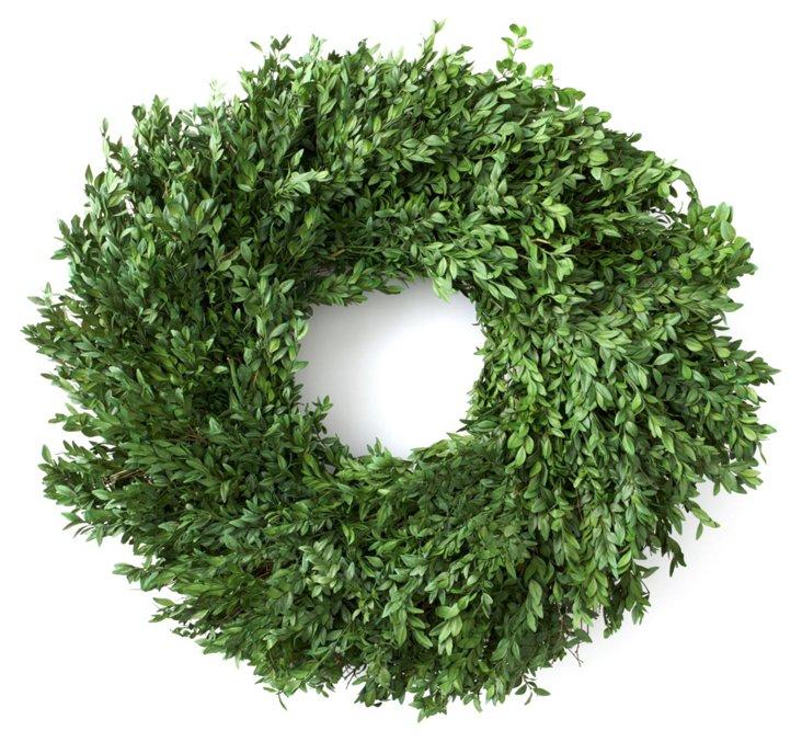 "24"" Boxwood Wreath, Preserved"
