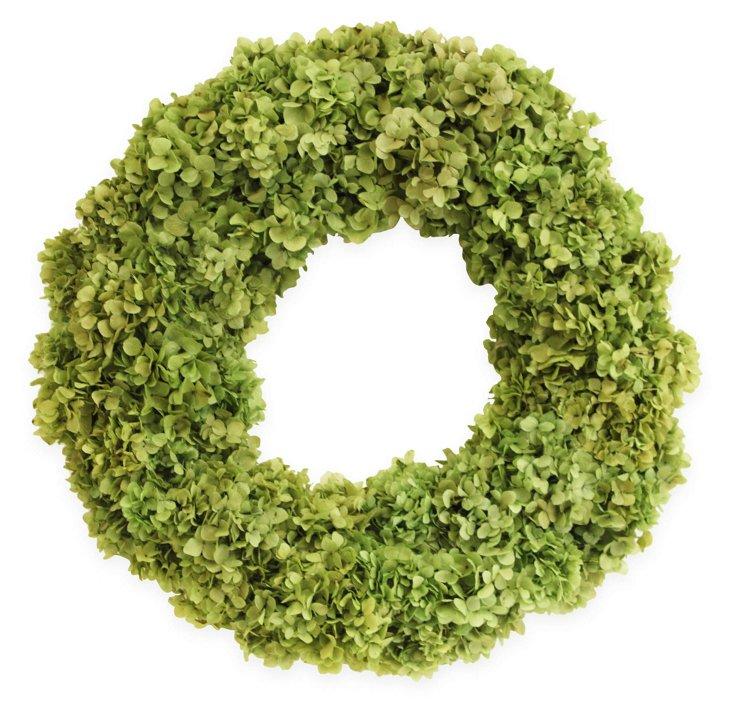 "26"" Hydrangea Wreath, Dried"