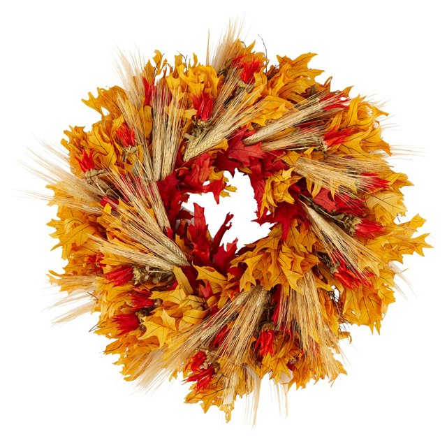"""26"""" Indian Paintbrush Wreath, Dried"""