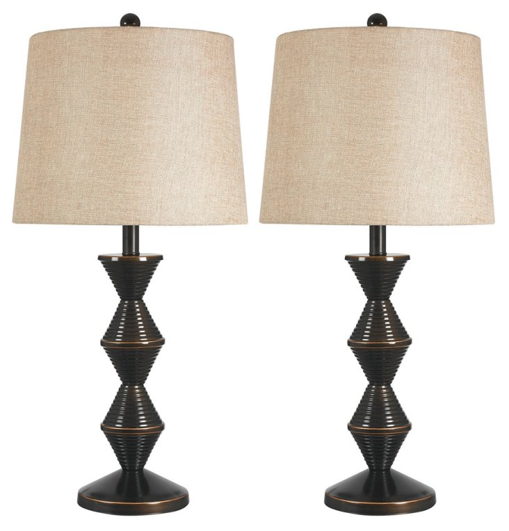 Teton Table Lamps Set