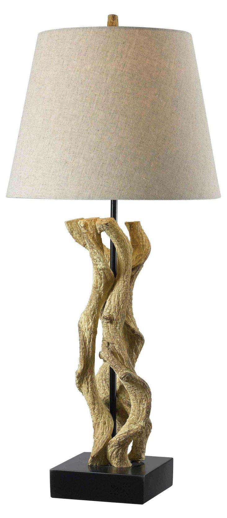 Ocean Wood Table Lamp