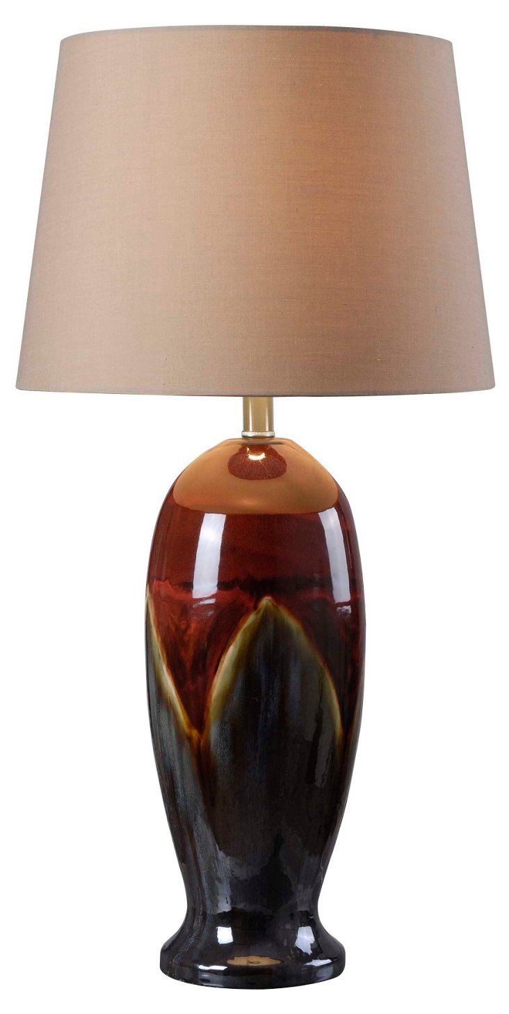 Lava Table Lamp, Ceramic Glaze