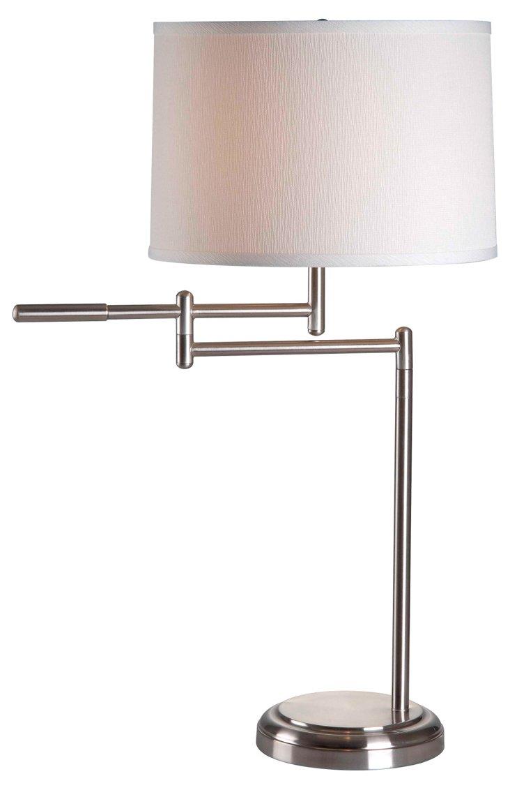 Clayton Swing-Arm Table Lamp, Steel