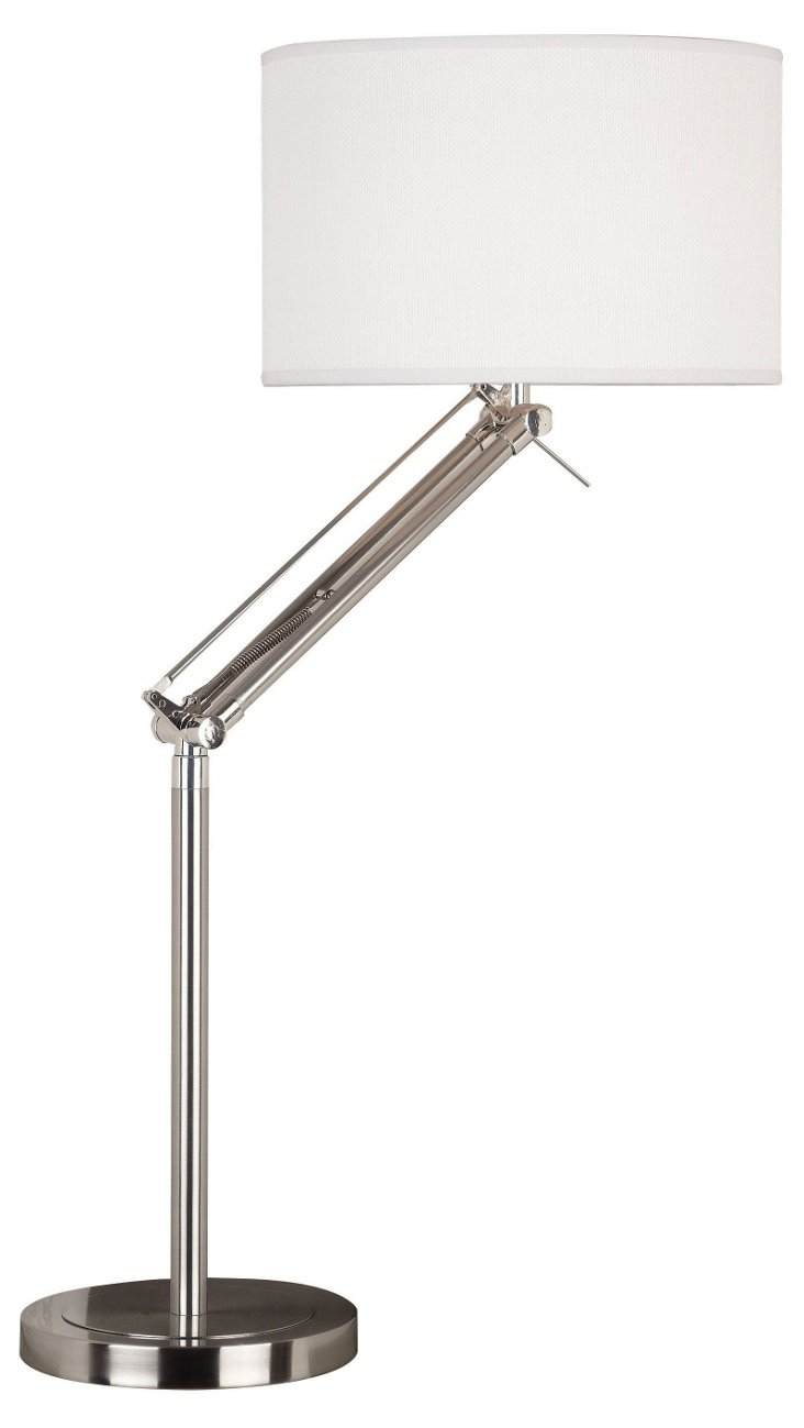 Cole Adjustable Table Lamp, Steel