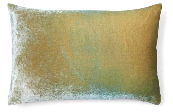 Ombré 12x18 Velvet Pillow, Celadon