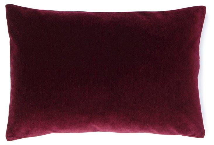 Velvet 14x20 Pillow, Wine