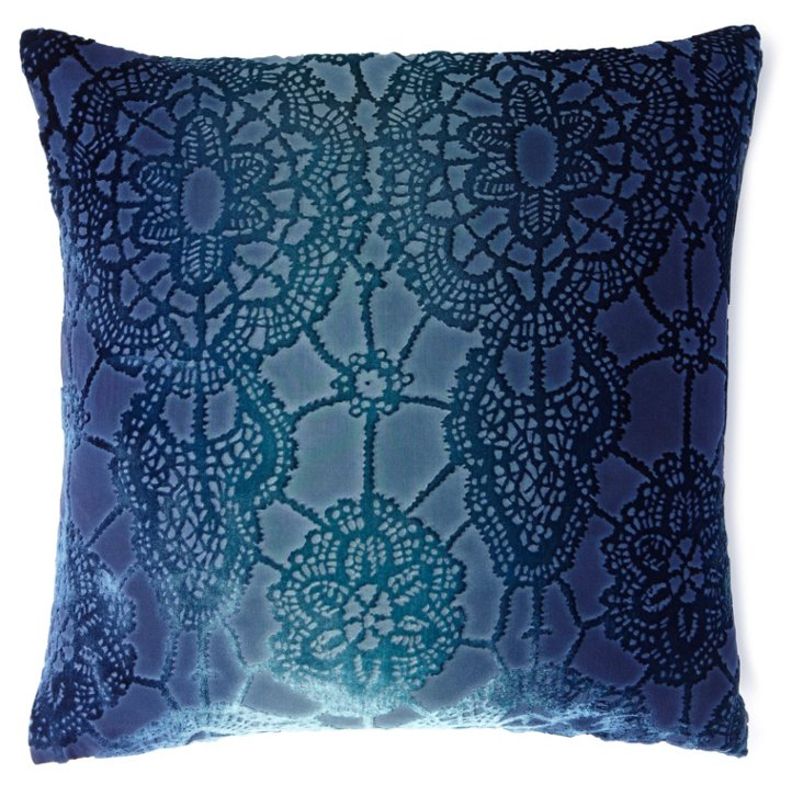 Lace 20x20 Pillow, Shark Blue
