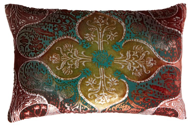 Persian 12x18 Pillow, Brick Moss
