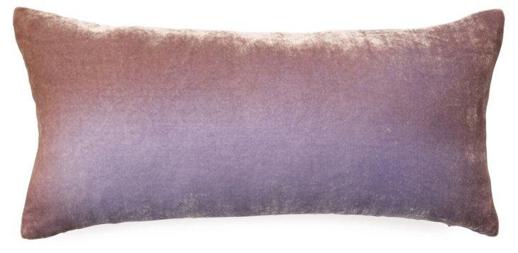 Ombré 8x16 Silk-Blend Pillow, Lavendar