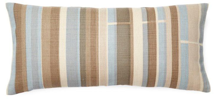 Multistripe 8x16 Linen Pillow, Multi