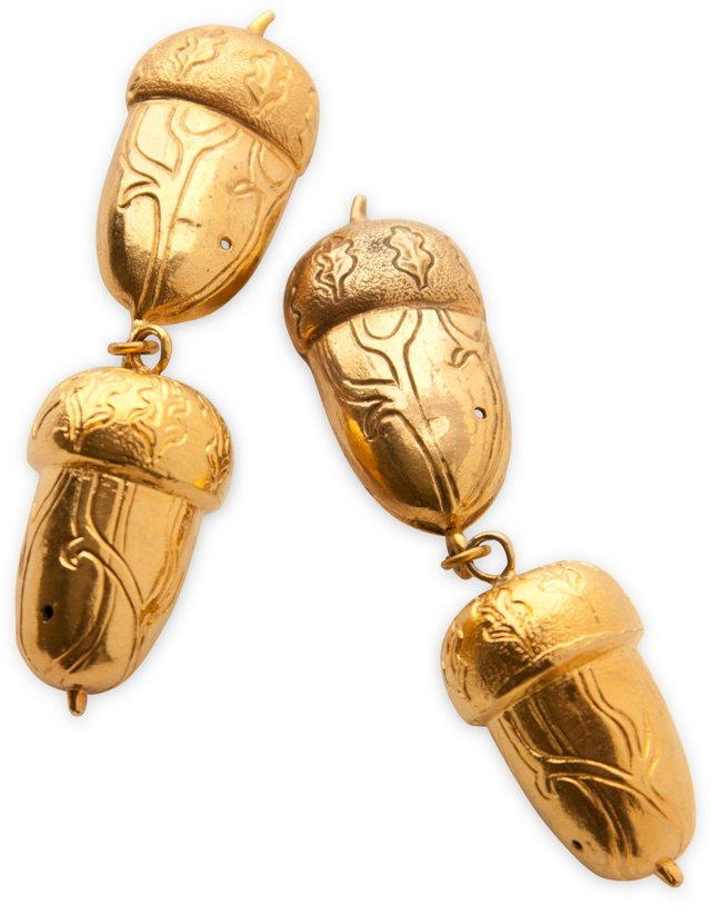 Isabel Canovas Acorn Drop Earrings