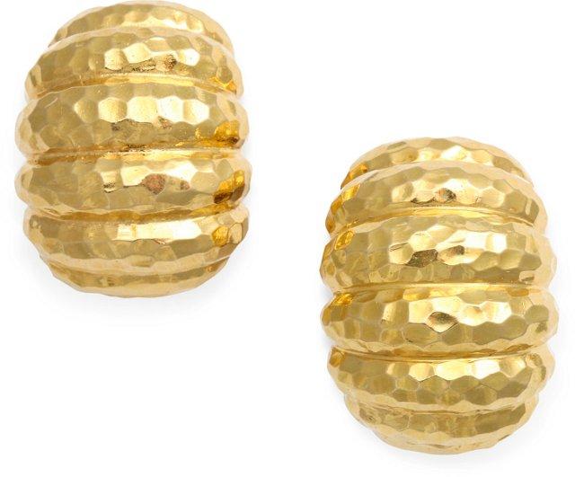 David Webb Shrimp Earrings
