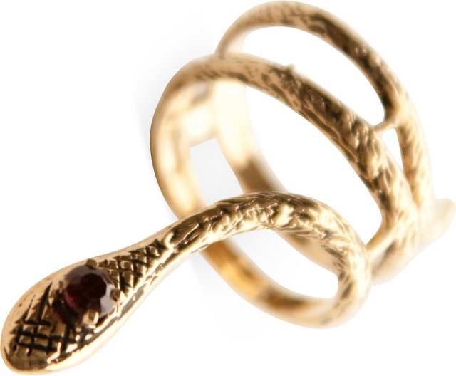 Gold-Plated Snake Ring