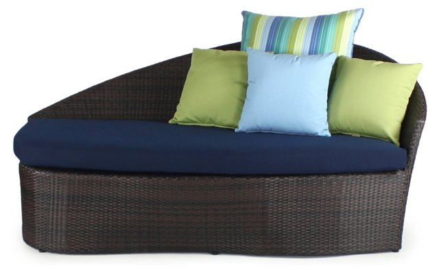 Sail Outdoor Right Daybed, Navy