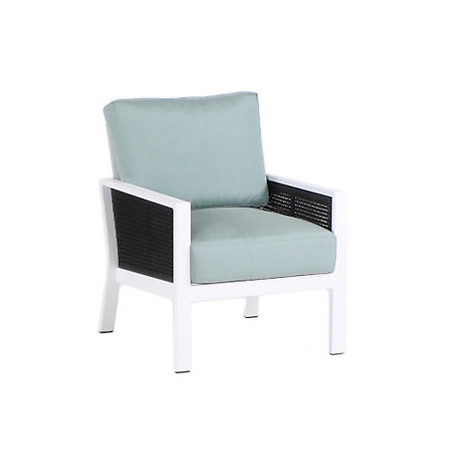 Parkview Woven Club Chair, Spa Blue