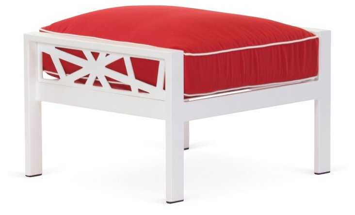 Parkview Knest Ottoman, Red