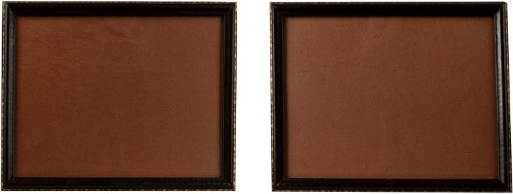 Tooled Leather Frames, Pair