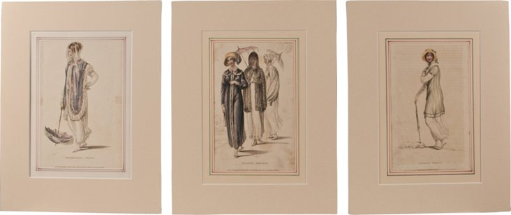 Ackerman Ladies Prints, Set of 3