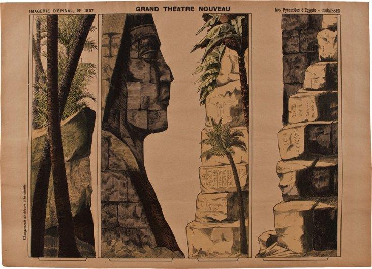 Pellerin Print, Egypt & Sphinx