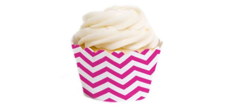 S/36 Chevron Cupcake Liners, Pink