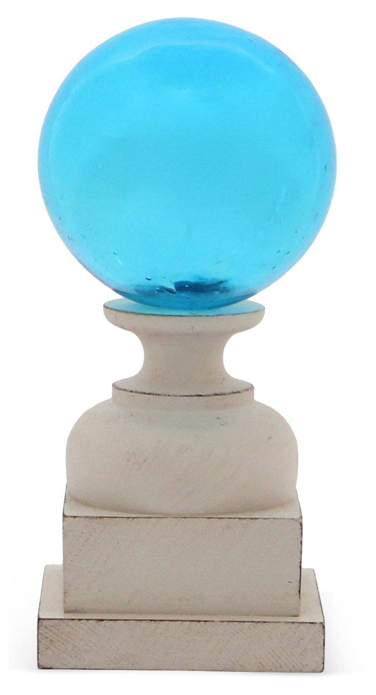 """5"""" Hand Blown Glass Float, Light Blue"""