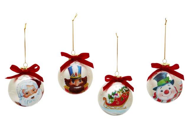 Character Ornaments, Asst. of 4