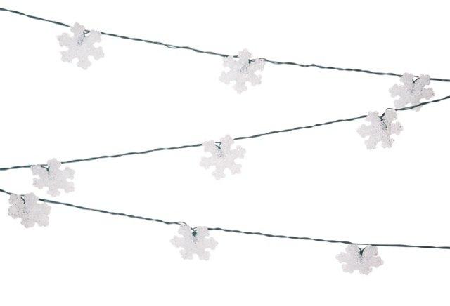 S/2 12' Eva Snowflake String Lights Set