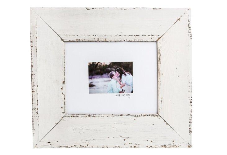 "16"" x 14"" Bead Board Frame, White"