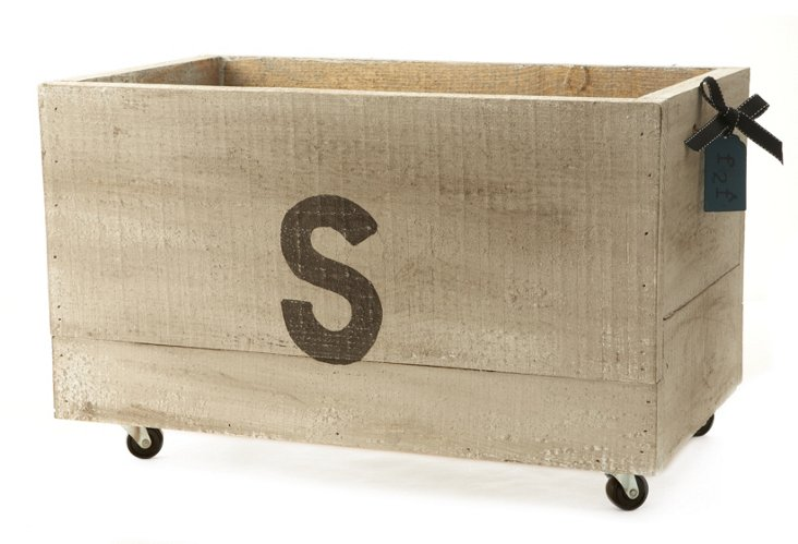 Monogrammed Small Crate