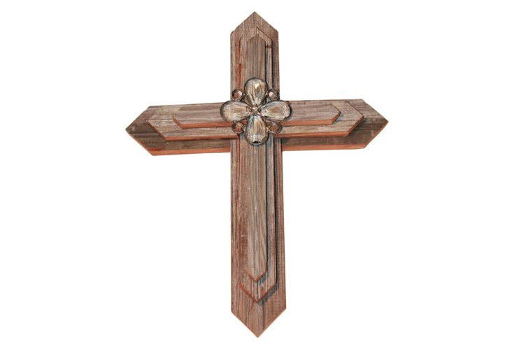 Medium Cross with Crystal