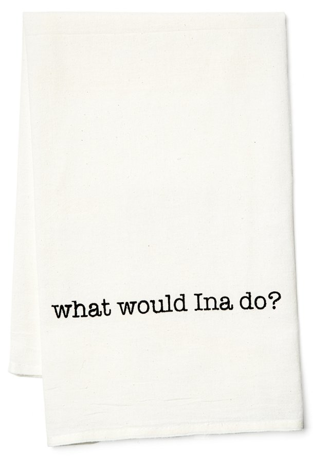 "S/2 ""What Would Ina Do"" Tea Towels"