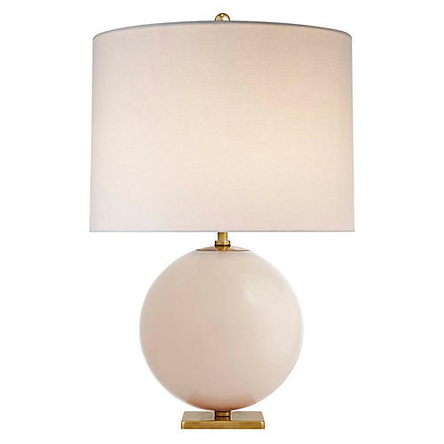 Elsie Table Lamp, Blush/Cream