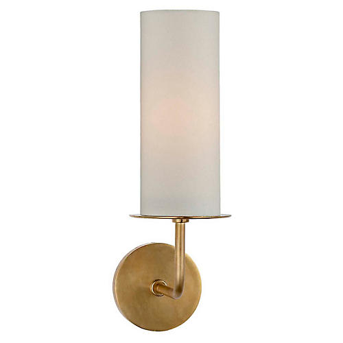 Larabee Single Sconce, Soft Brass