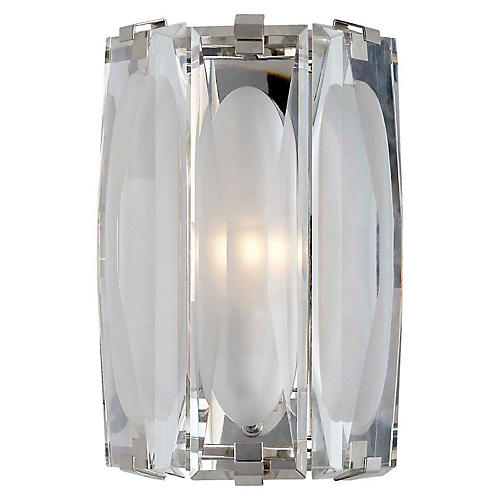 Castle Peak Bath Sconce, Polished Nickel