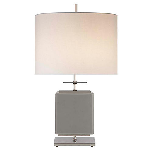 Beekman Wide Table Lamp, Gray