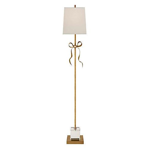 Ellery Floor Lamp, Soft Brass/Cream